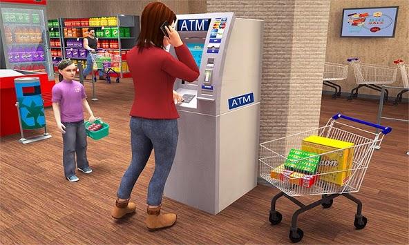 Super Market Atm Machine Simulator: Shopping Mall APK screenshot 1