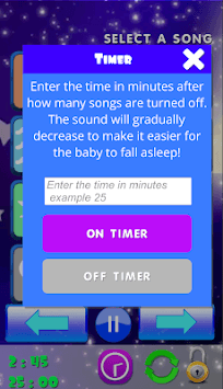 Baby sleep sounds: white noise, nature APK screenshot 1