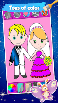 Bride And Groom Wedding Coloring Pages Game APK screenshot 1