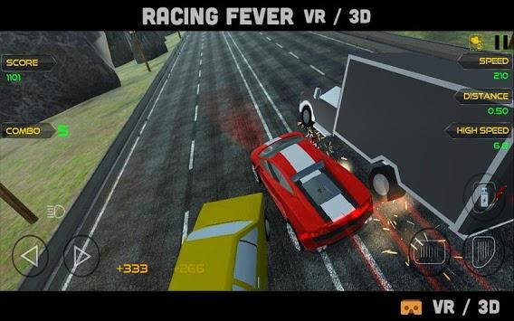 VR Racing Fever 3D : Highway Traffic Dodge Race 3 APK screenshot 1