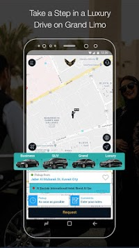 Grand Limo جراند ليمو -Book Black cars with Driver APK screenshot 1