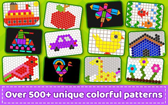 Mosaic Puzzles Art Game - Block Beads & Hex Puzzle APK screenshot 1