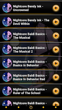 Nightcore Bendy Basics Behaviour Ink Ringtones APK screenshot 1