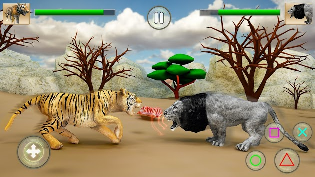 Wild Big Cats Fighting Challenge 2: Lion vs Tigers APK screenshot 1