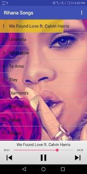 Rihanna Songs (without internet) APK screenshot 1