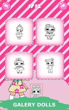 Dolls Coloring Book APK screenshot 1