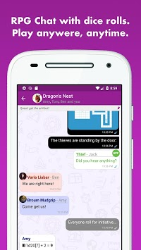 mRPG - Chat with dice rolling APK screenshot 1
