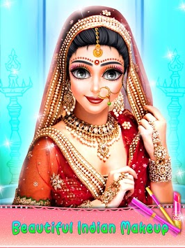 Indian Bride Fashion Doll Makeover APK screenshot 1