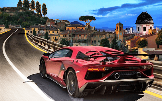 Xtreme Lamborghini games asphalt car driver APK screenshot 1
