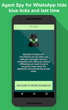 Agent Spy -No blue ticks, No last seen, Ghost Mode APK screenshot 1