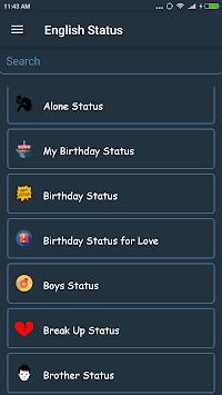 English Status Collection APK screenshot 1