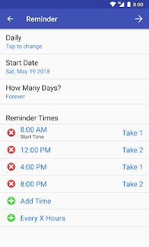 Pill Reminder - Medication Tracker with Alarm APK screenshot 1