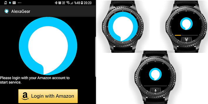 Alexa Gear (Alexa for Gear / Galaxy Watch) APK screenshot 1