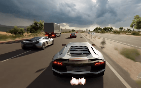 Car Racing Lamborghini Game: Driving Simulator APK screenshot 1