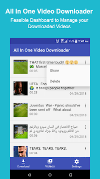All In One Video Downloader APK screenshot 1