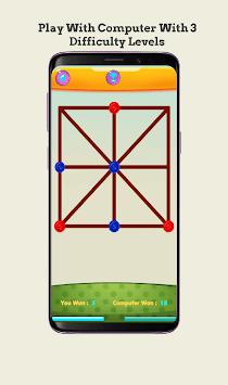 Three Men's Morris - Three Bead Game APK screenshot 1