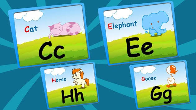 Alphabet puzzles & flash cards APK screenshot 1