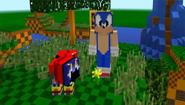 The Hedgehog  Sonic Pack for MCPE APK screenshot 1