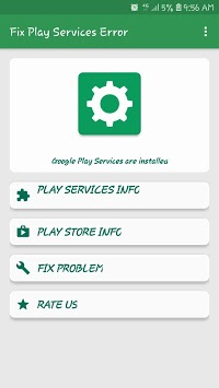 Info of Play Store & Play Services Error APK screenshot 1