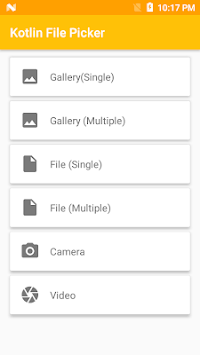 Kotlin File Picker (Android Library) APK screenshot 1
