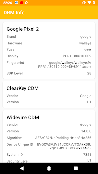 DRM Info APK screenshot 1