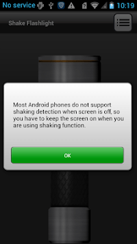 Shake Flashlight APK screenshot 1