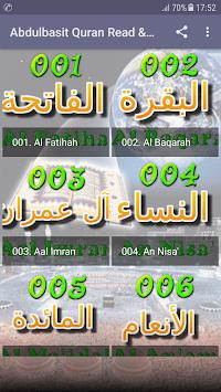 Abdul Basit Full Quran MP3 OFFLINE Read & Listen APK screenshot 1
