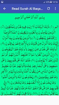Surah Al Baqarah MP3 Offline - Listen Read Tafseer APK screenshot 1