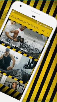 Beginner workout - Your First Mounth Gym Program APK screenshot 1