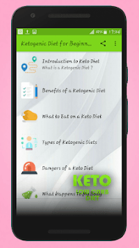 Keto Diet Guide For Beginners - One week Meal Plan APK screenshot 1