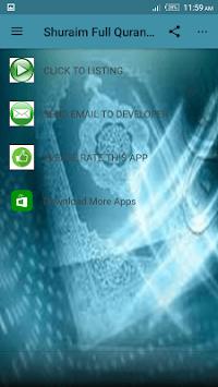 Sheikh Shuraim Full Quran Offline mp3 pc screenshot 1