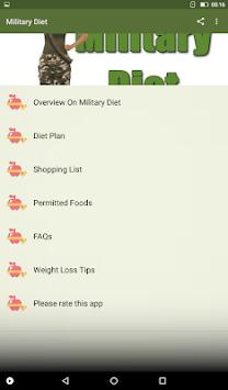 Military Diet APK screenshot 1