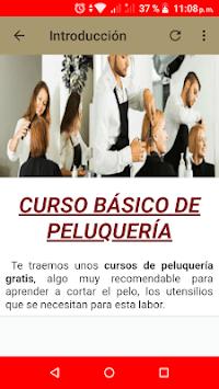 Curso gratis de Peluquería APK screenshot 1