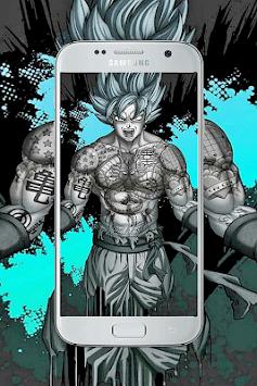 Goku art wallpaper HD APK screenshot 1