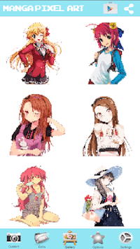 Manga Girls Color By Number: Paint Anime Pixel Art APK screenshot 1