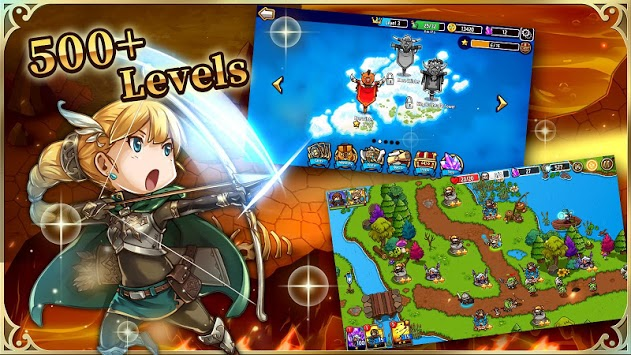 Crazy Defense Heroes: Tower Defense Strategy TD APK screenshot 1