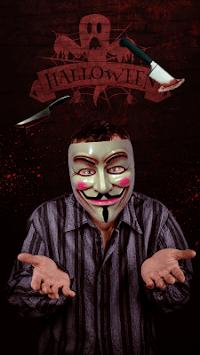 Anonymous Mask & Horror Photo Stickers APK screenshot 1