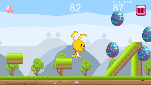 Easter Bunny Rabbit Race : Fun Rainbow Egg Hunt APK screenshot 1
