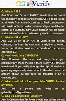 GST VERIFY APK screenshot 1