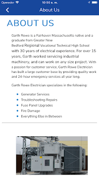 Garth Rowe Electrician APK screenshot 1