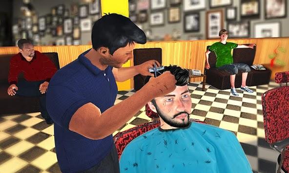 Barber Shop Hair Salon Cut Hair Cutting Games 3D APK screenshot 1