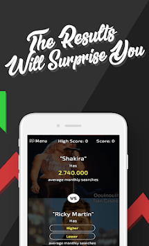 Higher or Lower: The Challenge APK screenshot 1