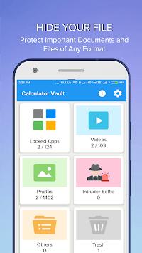 Calculator Vault- AppLock Hide Photo Video Lock APK screenshot 1