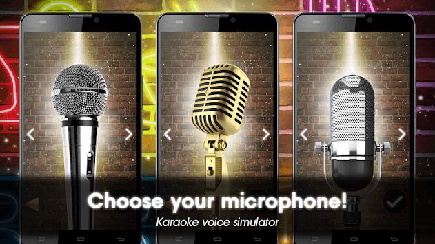 Karaoke voice sing & record APK screenshot 1