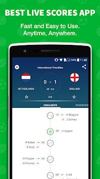 Skores - Live Soccer Scores APK screenshot 1