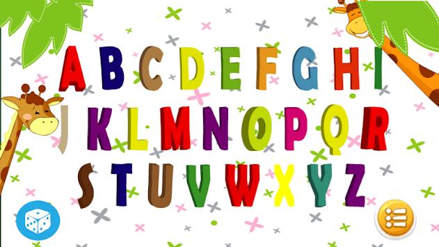 Writing the alphabet APK screenshot 1