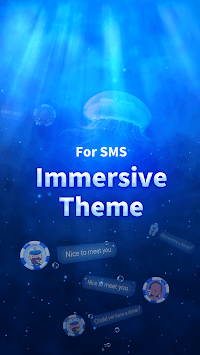 SMS Messenger - Ocean & Sea Theme APK screenshot 1