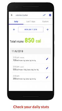 Calories Tracker APK screenshot 1