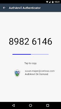 AuthAnvil Authenticator APK screenshot 1