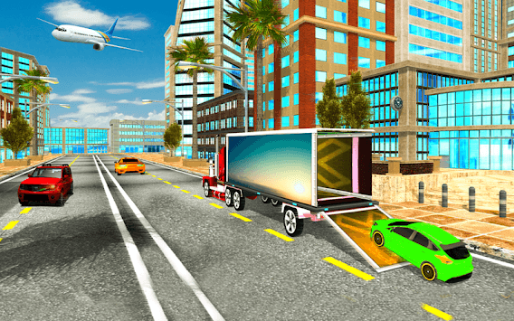 Car Transporter Plane Simulator – City Cargo Car APK screenshot 1